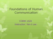 0107 Foundations of Human Comm