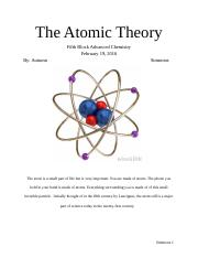 The Atomic Theory-Advanced Chemisty