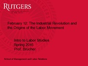 Modern Labor Movement Slides
