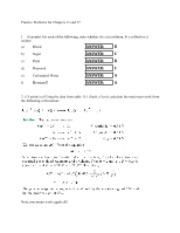 Ch 11 and 17 Homework Solutions