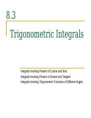 8.3__Trigonometric_Integrals_-1