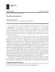 Human and Social Stu s] The Post Truth Era