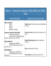 Week 2 Reading Assisgnments