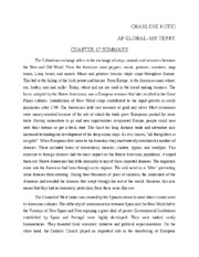 columbian exchange essay sara huckaby world civilization essay i 6 pages charlene kotei chapter 17 summary
