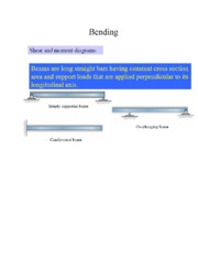 Ch 6 - Bending Notes