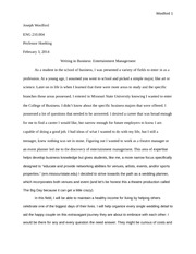 ENG 210 Project 1 Rough Draft