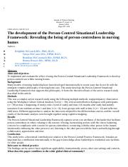 The development of the Person-Centred Situational Leadership Framework.docx