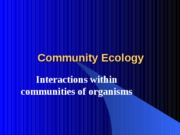 Chapter53 Ecology Community