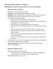 MKT Test 1--Book Notes