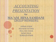 ACCOUNTING PRESENTATION