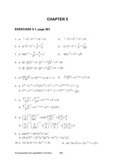 Chapter 5 Exercise Solutions