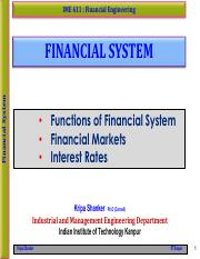 IME611 - 4.1 Financial System (Functions, Markets, Interests and Taxes)