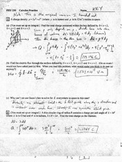 Practice Calculus Exam Solution Spring 2010
