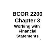 BCOR 2200 Chapter 3