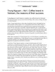 Trung Nguyen – No1. Coffee brand in Vietnam, the reasons of their success.pdf