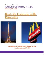 analytic geometry project.docx