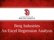Berg Industries Regression Example