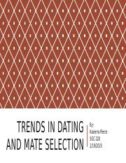 Trends in Dating And Mate Selection.pptx