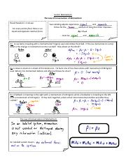 Notes - 3 - Conservation of Momentum - KEY.pdf