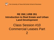 RE 358 URB 351 Powerpoint 0217