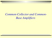 lesson 10 2010 common collector & common base amplifiers with activities