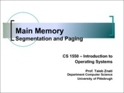 2013-10-29 Main Memory - Segmentation and Paging