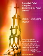 Leadership in Project Management - Chapter 3 - Instructor Slides - May 14, 2013