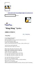 ABBA LYRICS - Ring Ring.html