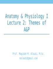 AP 1 Lec 2-Themes of A&P.ppt