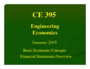 Lecture 2 - Economic Terms, Financial Statements