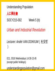 Urban and Industrial Revolution