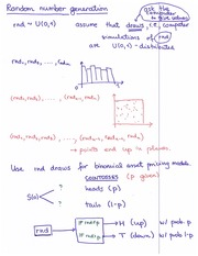 Lecture Notes on Random Number Generation