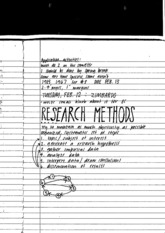 SCPSYC Research Methods Notes