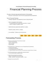 Fin 319 Chapter 12 Financial Planning.docx