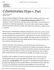 Cybersterrorism+Hype+v+Fact