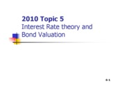 FM2010 Topic 5 Interest Rate Theory and Bond Valuation [Compatibility Mode]