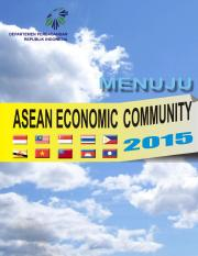 Buku Menuju ASEAN ECONOMIC COMMUNITY 2015