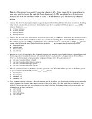 FIN308 Practice questions, 4-7