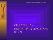 CHAPTER 15 EMERGENCY PLAN