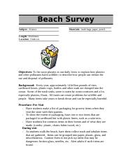 Beach Survey.doc