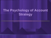 9. Psychology of Strategy