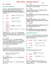 Exercises for (2015-16 Fall) Math 2011 Tutorial 7