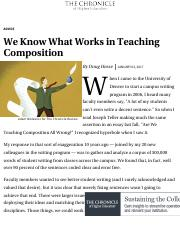 We Know What Works in Teaching Composition - The Chronicle of Higher Education.pdf