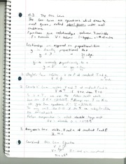 CHM 142 Gas Laws Notes
