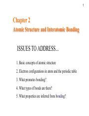 AP2102-Lecture2 Structure and Bonding