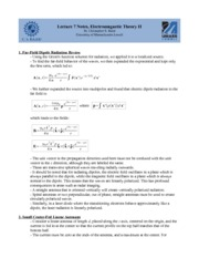 Lecture G Notes on Graduate Electromagnetics