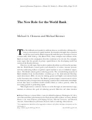 FIN4651 Module8 Reading2 -The New Role for the World Bank.pdf
