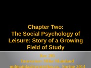 social psychology of leisure