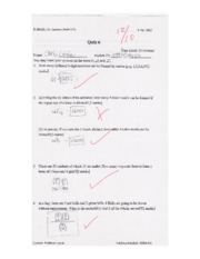 MATH218 Quiz 6