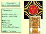 Incas and Colonial SA